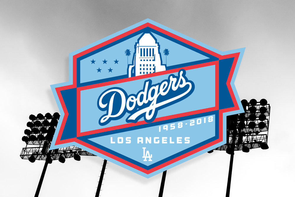 5 Stars - The 5 stars in the logo are symbolic of the 5 World Series the Dodgers have won since moving to Los Angeles. You can also see the Los Angeles City Hall building, once the tallest building in Downtown.