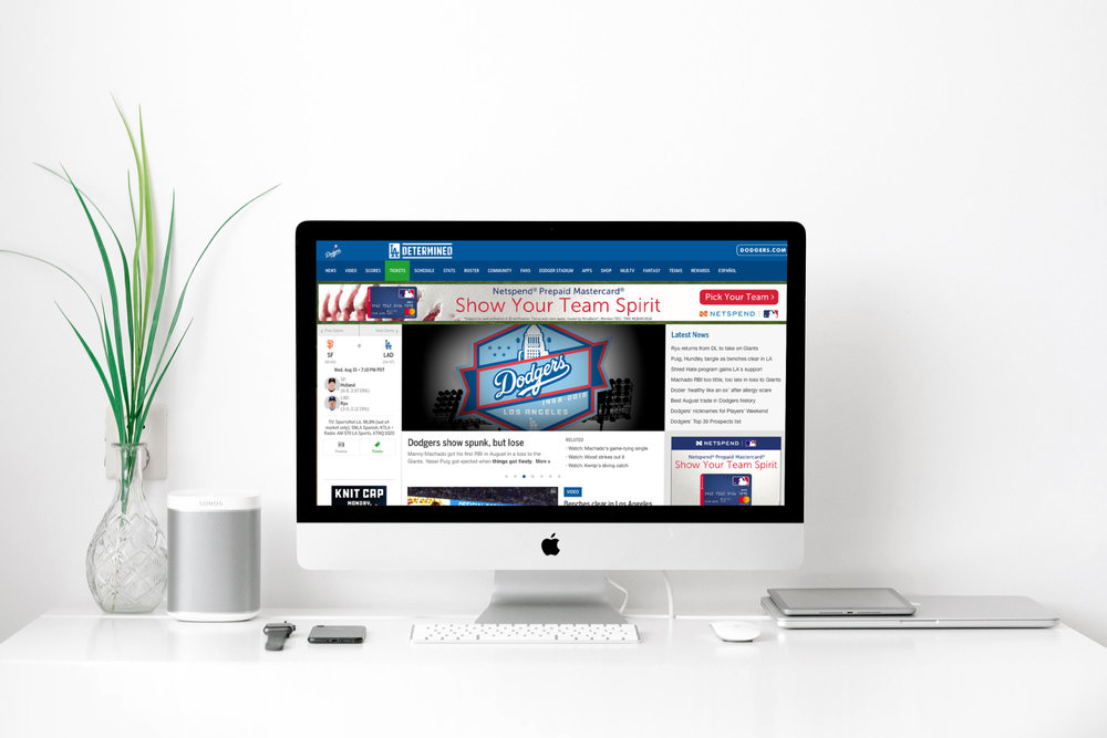 Being Social - Our design assets were used on social media, and the official Dodgers website.