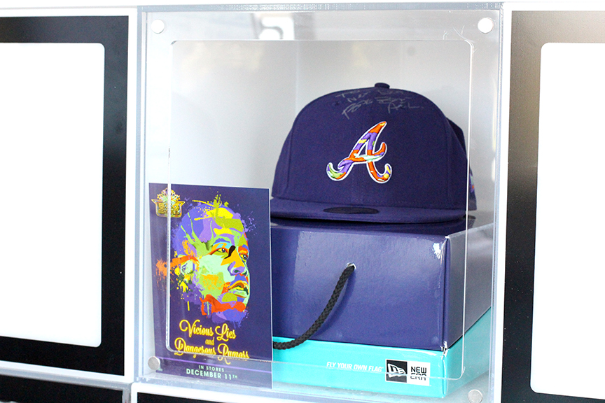 Custom Box - We also developed a commemorative custom box with custom matching satin liner from the interior of the 5950 cap.