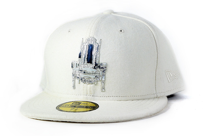White Cashmere - This white cashmere 59FIFTY Fitted was the result of our design workshops together, amongst many other things.