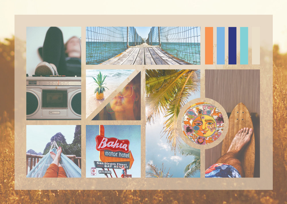Developing the Mood - We combed through the internet to find images that felt like they portrayed the mood of Sunny Day Edibles. Imagery is a very important process in presenting the direction to the client.