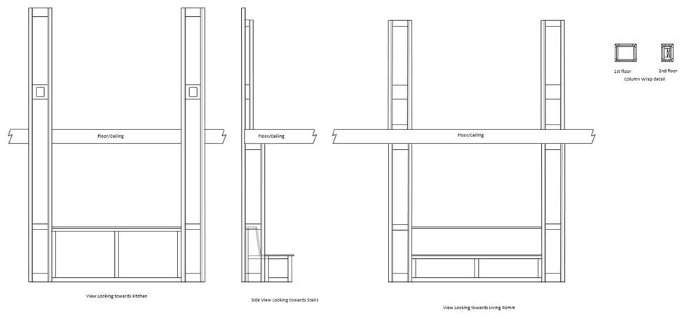 Conceptual column drawing for client