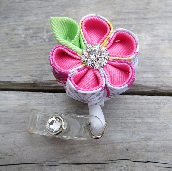 Get her noticed at work with this fabulous id badge holder. Photo courtesy of RIBBONSandREELS