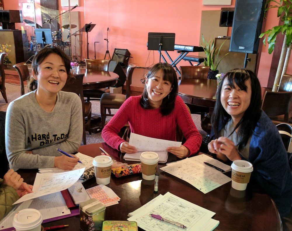 Japanese women enjoying customized group English lessons with Bigler ESL