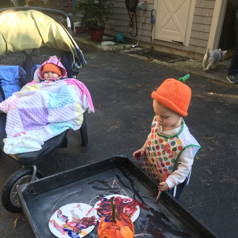 Our First Annual Kiddo Pumpkin Painting Extravaganza!