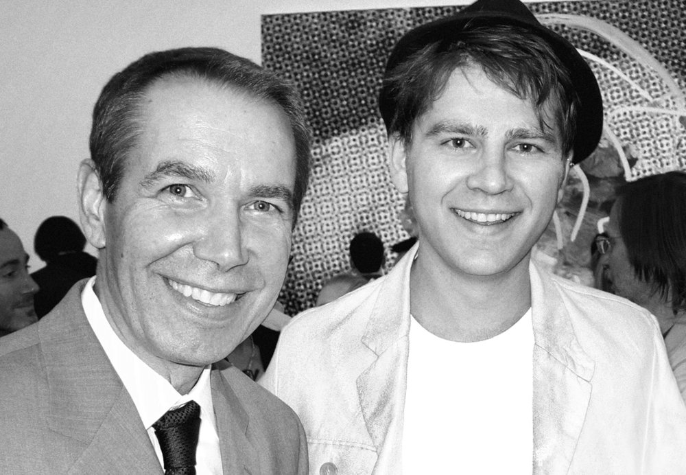 Artists Jeff Koons and Michael Markowsky