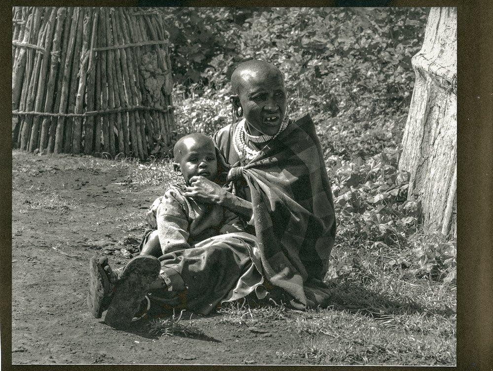 Maasai Woman and Child