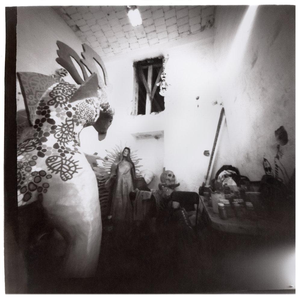 Inside Oaxaca Mask makers' Studio #1
