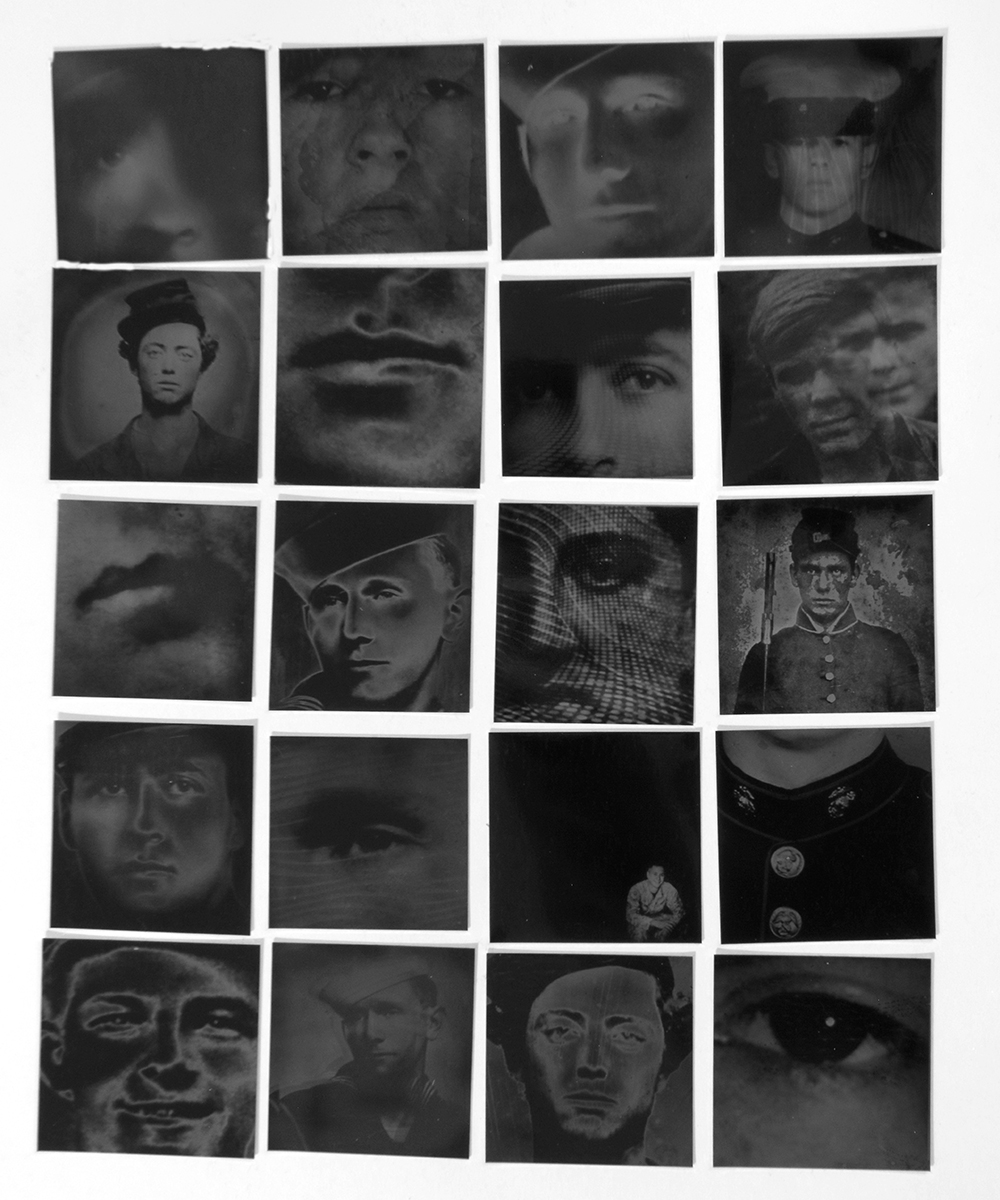 Lost boys grid #2 - Young men, killed in war. American Civil War, WW1, WW2, Vietnam, Iraq