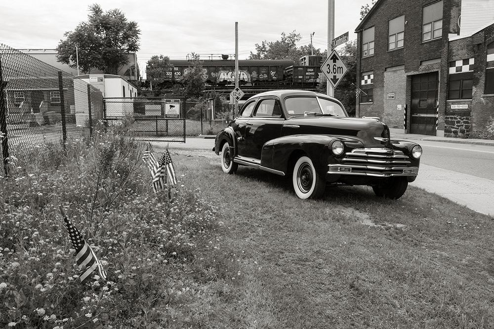Flags, Freight Cars, & '47 Chevy