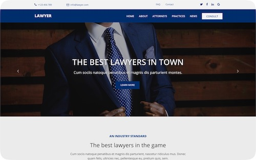 Lawyer   Corporate website for a law firm