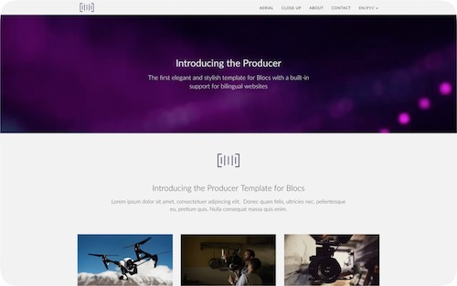 Producer    Bilingual website for a video production company