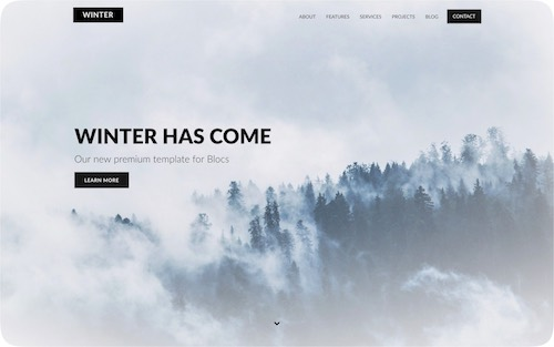 Winter   Personal single-page website