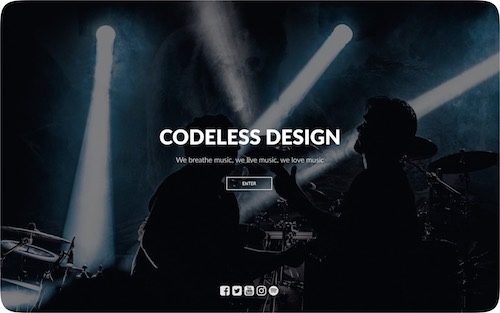 Music   Beautiful website for a music band