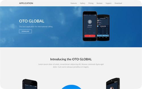 Application    Corporate website for a mobile application