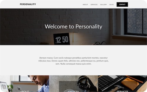 Personality    Multi-page personal website