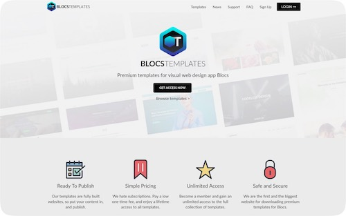 Blocs Templates    Website with a website template collection