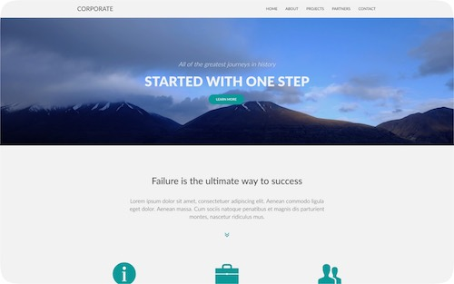 Corporate   Simple multi-page corporate website