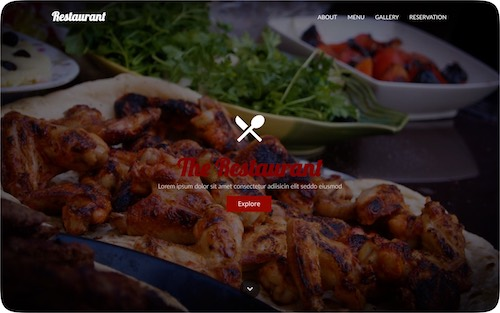 Restaurant   Multi-page website for a restaurant