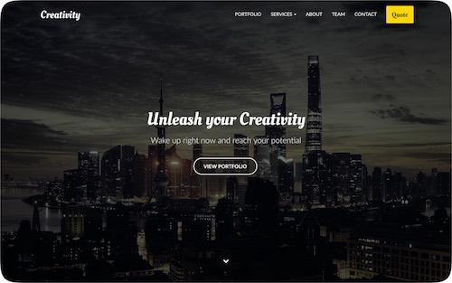 Creativity    Website for a creative design agency