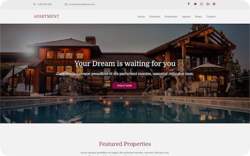Apartment     Corporate website for real estate agency