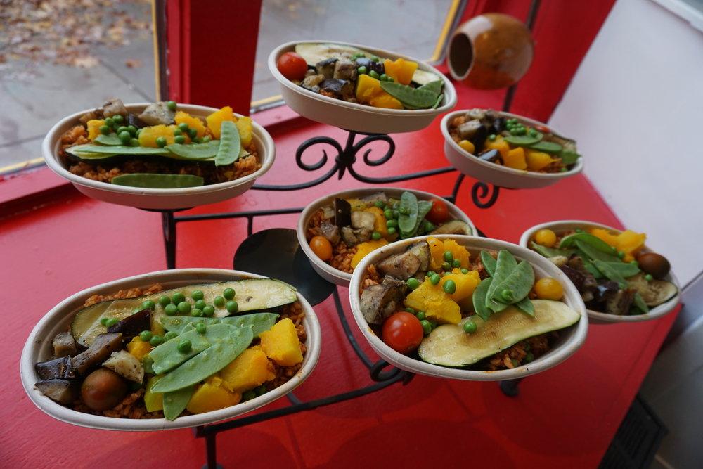 vegetarian Paella by Chef Jorge Arrunategui