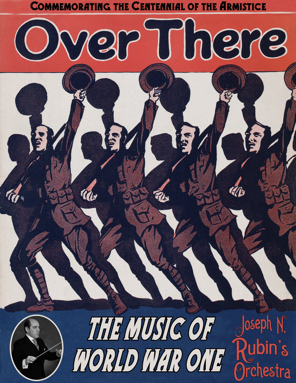 """Over There  Poster Image 8.5x11"""" (jpg)  ( without blank top )"""