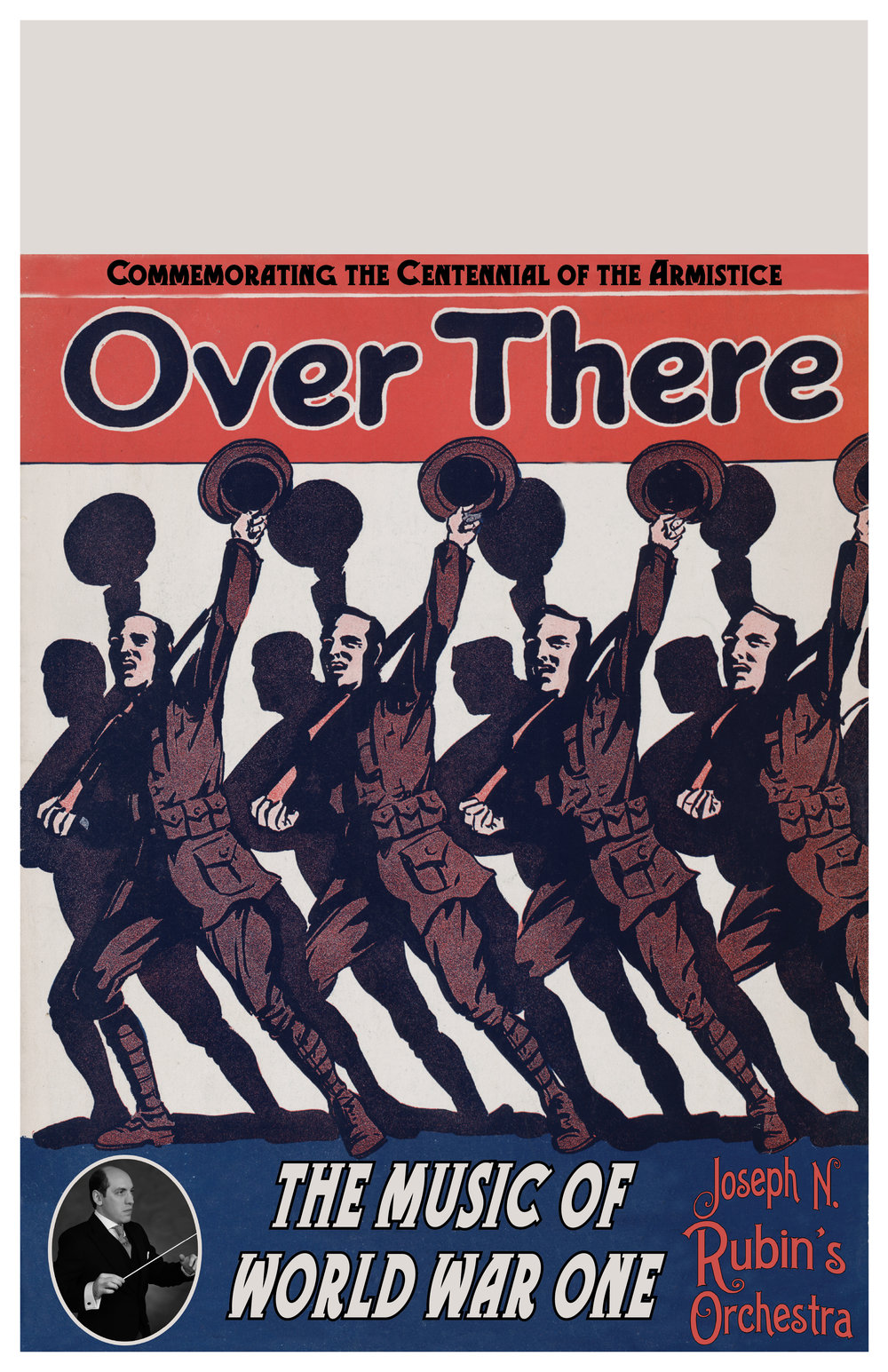 """Over There  11x17"""" Poster (jpg)  ( blank top half for venue details )"""