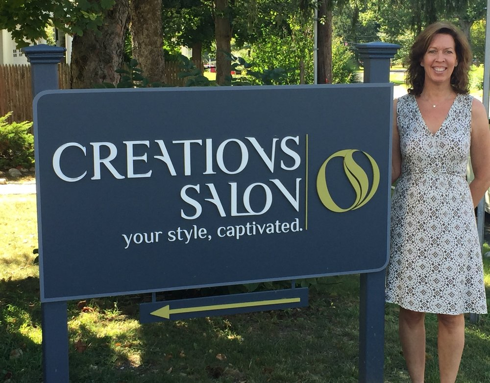 Wendy has been managing the Creations Salon Team for the last 2 years. She enjoys interacting with the clients and ensuring their time spent at Creations Salon is a positive and relaxing one. In her free time, she likes to spend time outdoors with her husband and their dog Coco walking in the woods, gardening or baking.