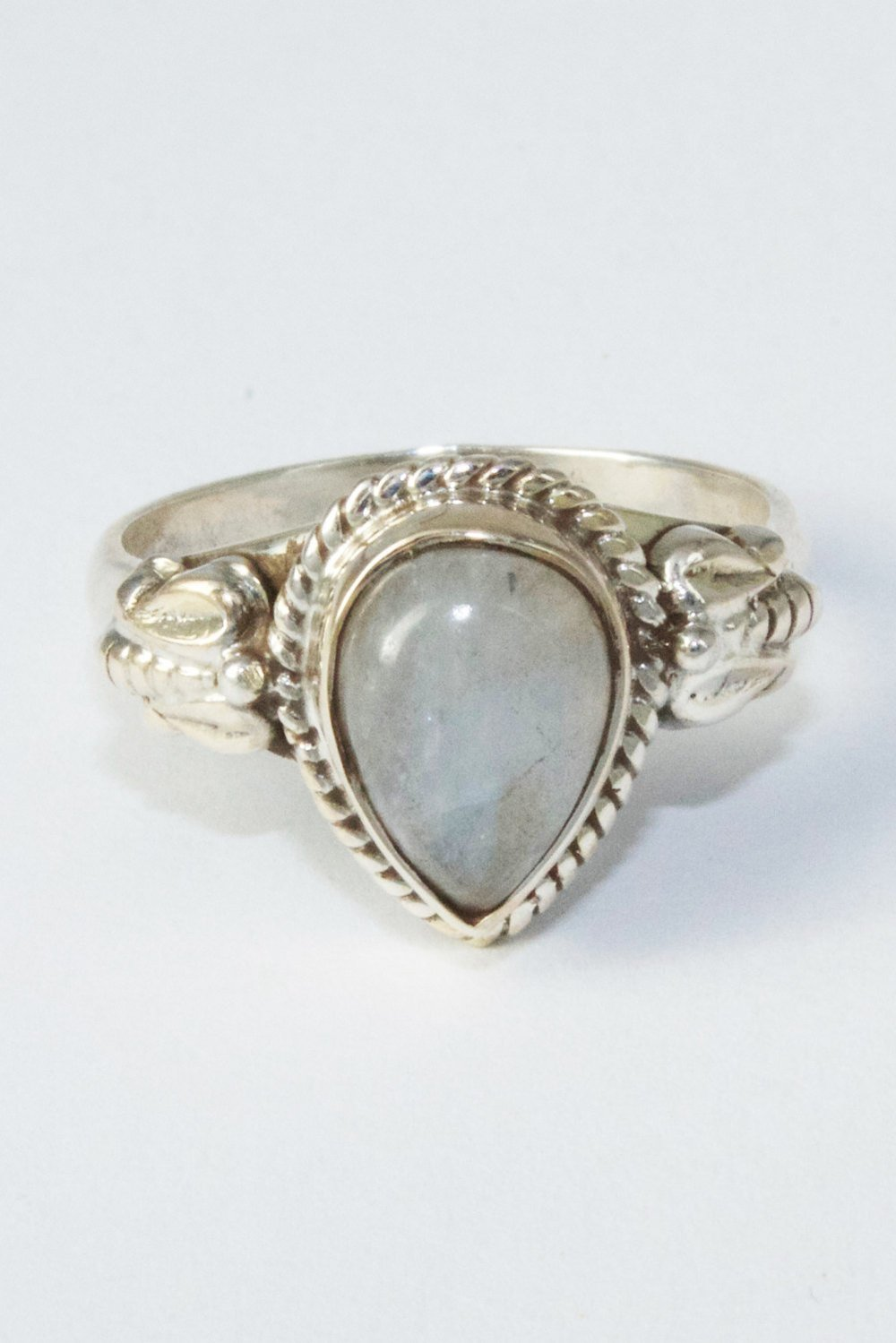 TEARDROP MOONSTONE RING -