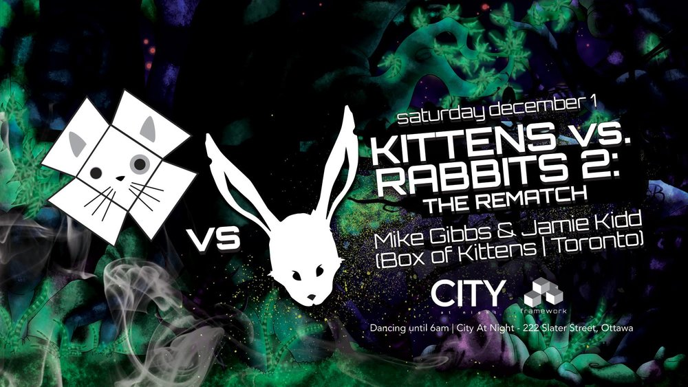 Kittens vs Rabbits 2: The Rematch! All Night Dancing 11pm to 6am