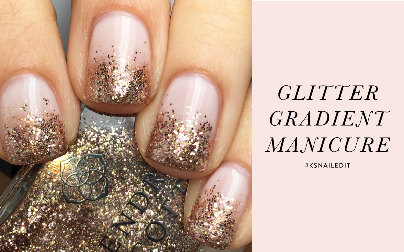 Kendra Scott Nail Lacquer Glitter Gradient Manicure
