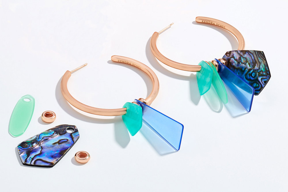 Rose Gold and Abalone Shell Statement Earrings