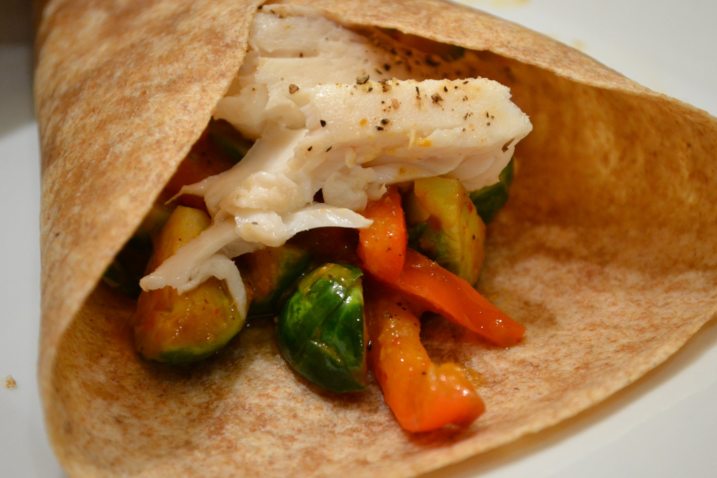 Brussels Sprouts and Tilapia Tacos