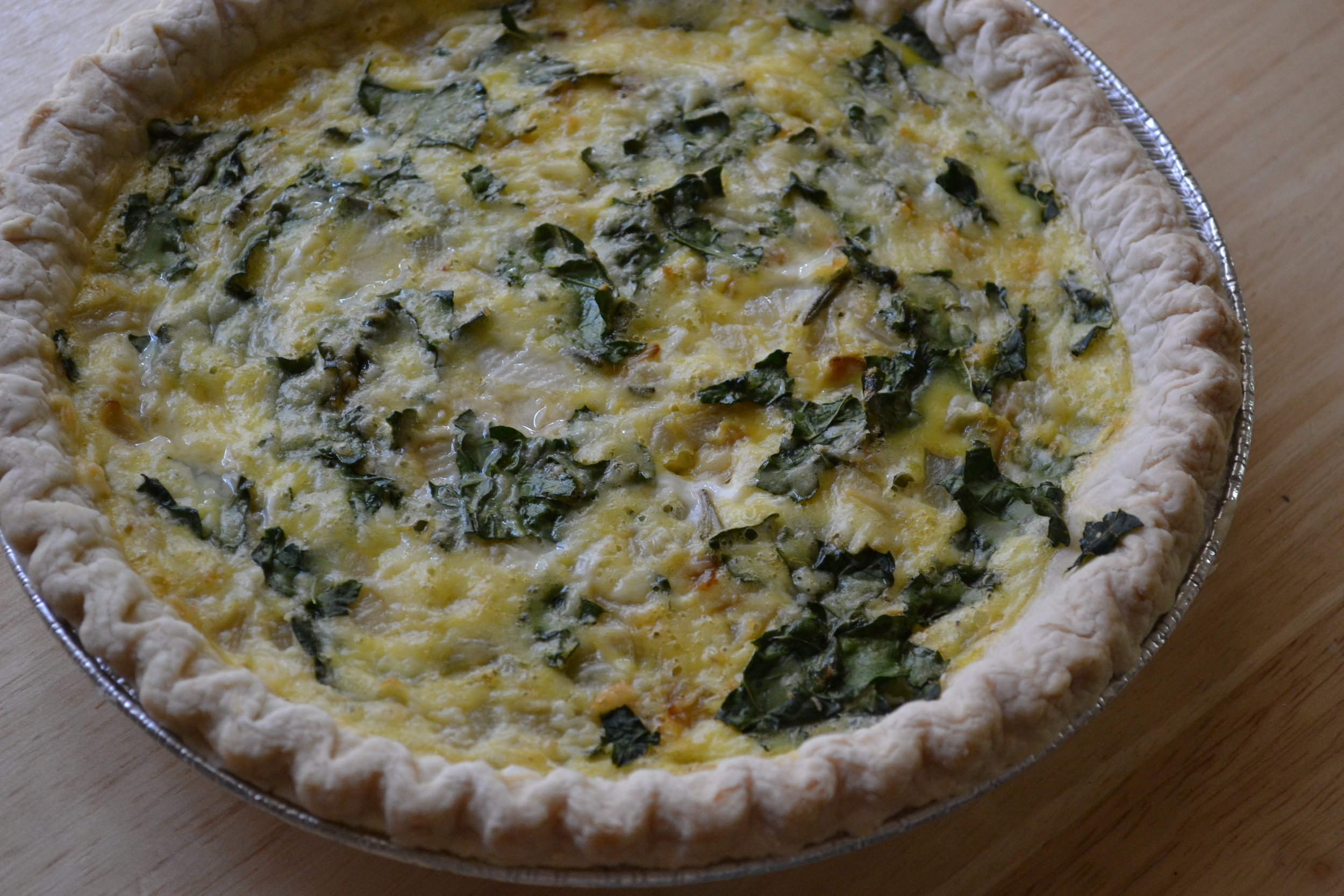 Kale and Rosemary Quiche