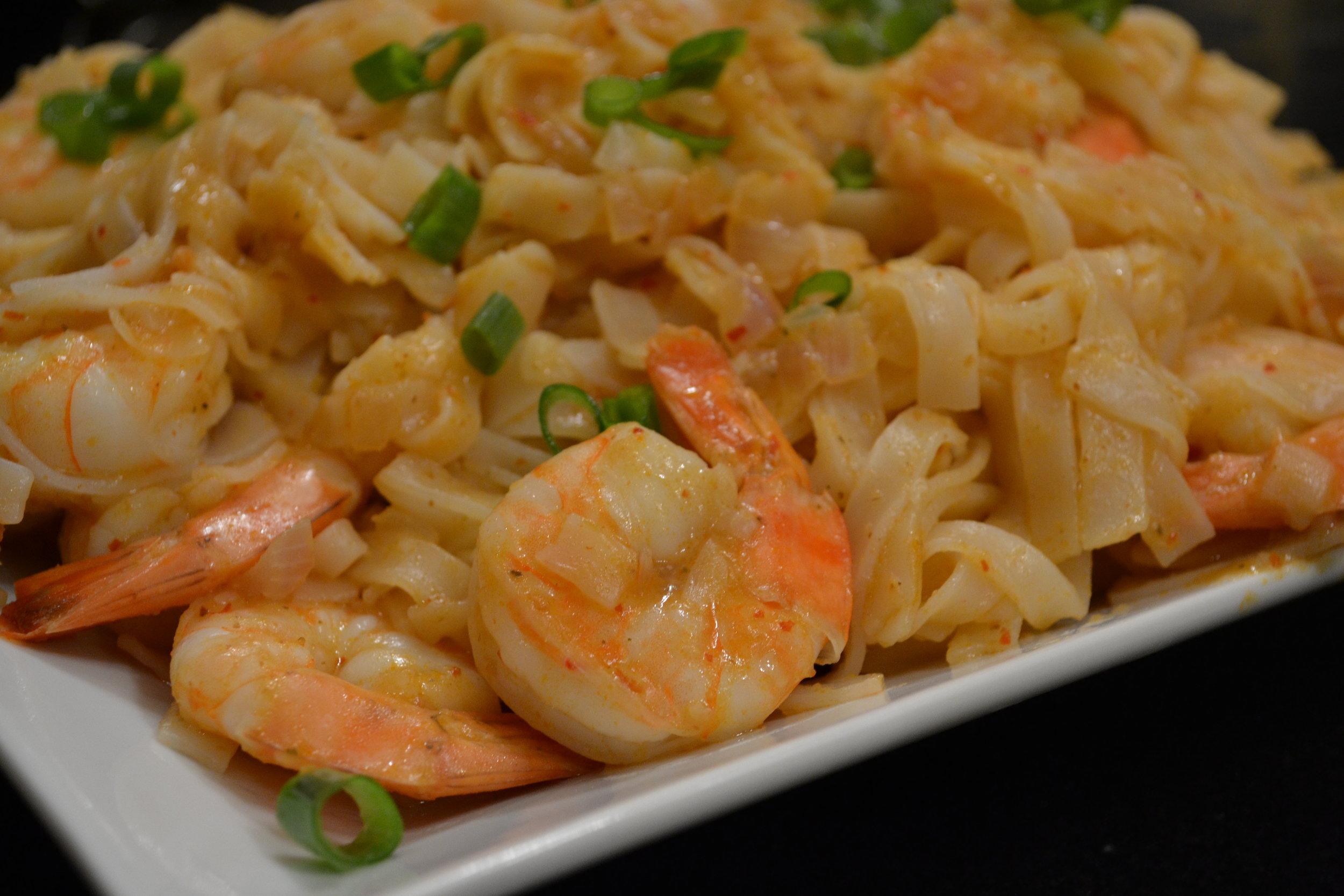 Lemon Grass Shrimp & Rice Noodles