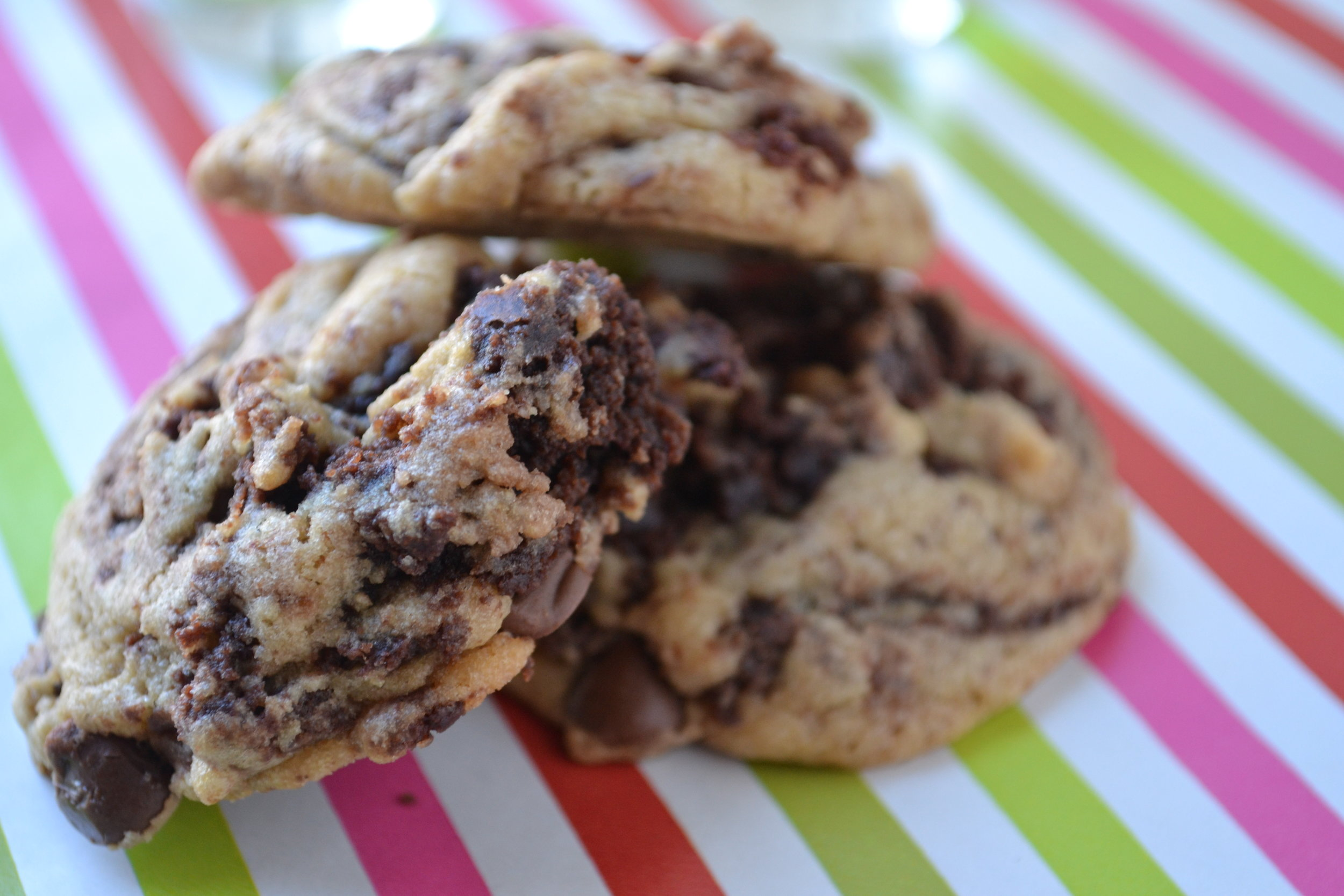 Brown Butter Chocolate Chip Brownie Cookies