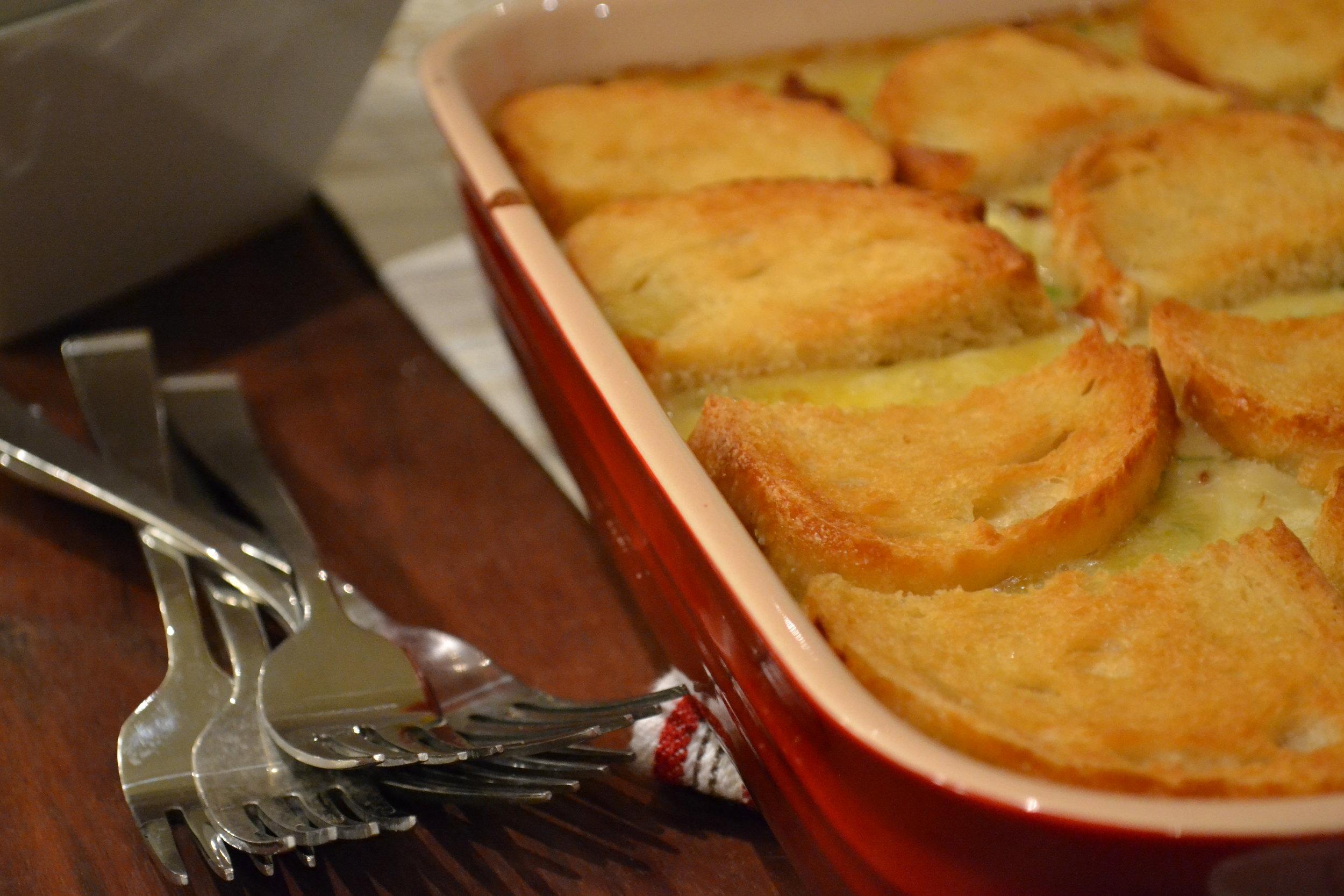 Crab, Bacon and Leek Pot Pie