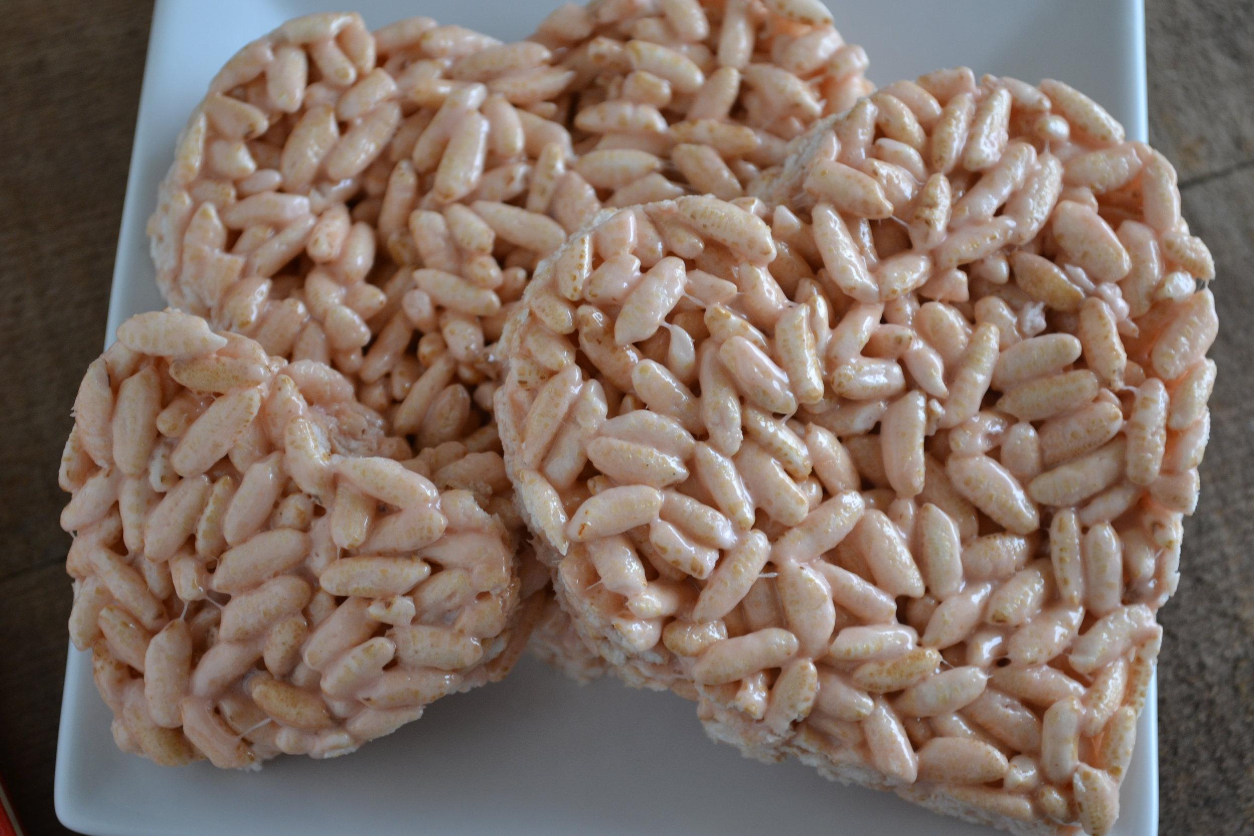 blushing rice crispy treats 2