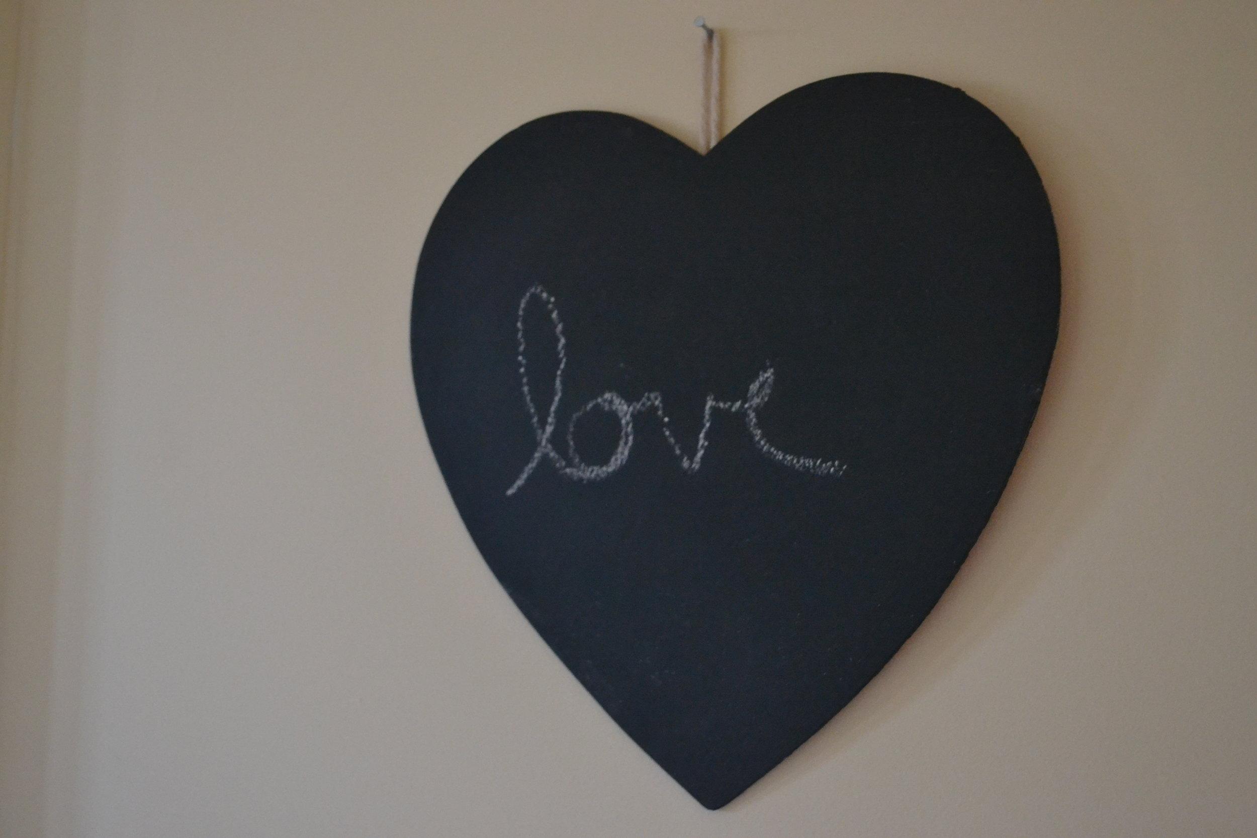 love chalkboard heart