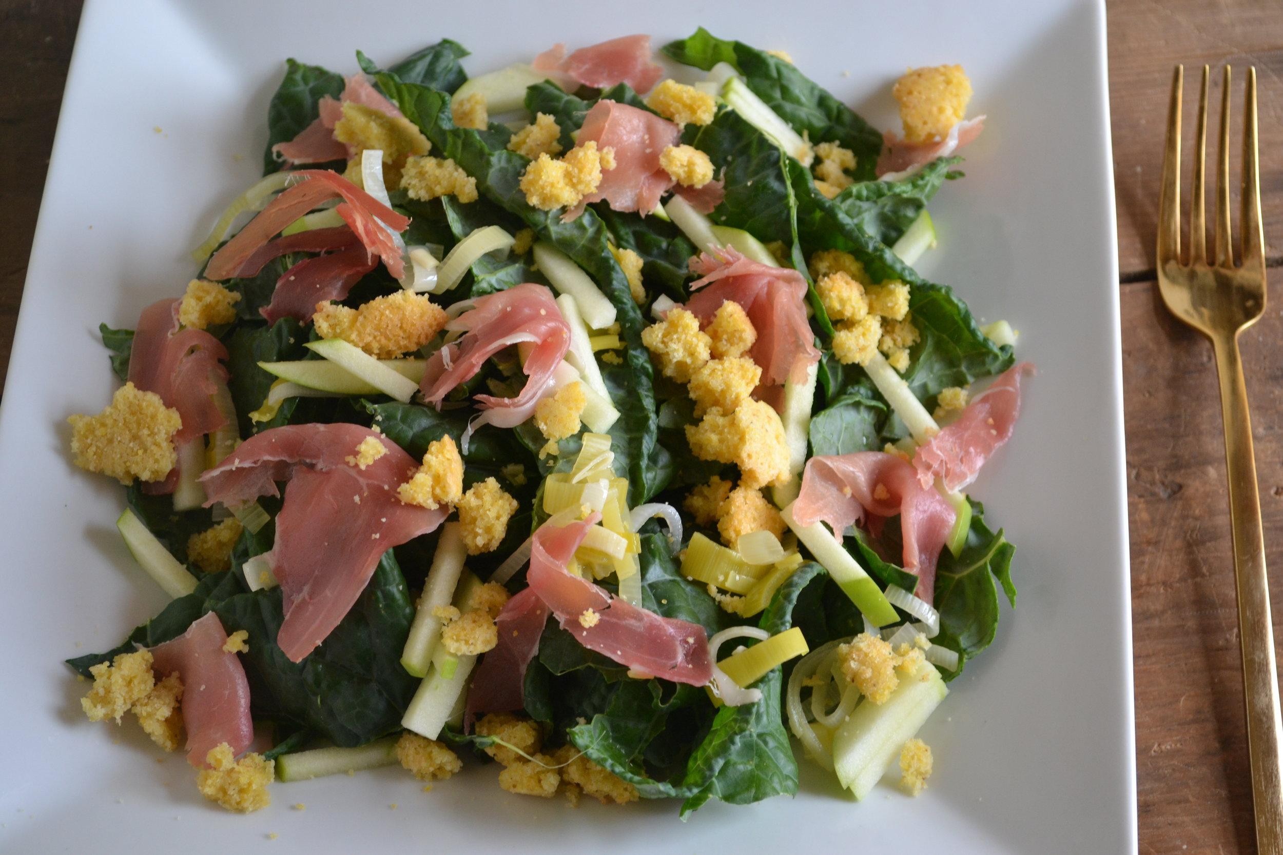 kale & cornbread salad 1