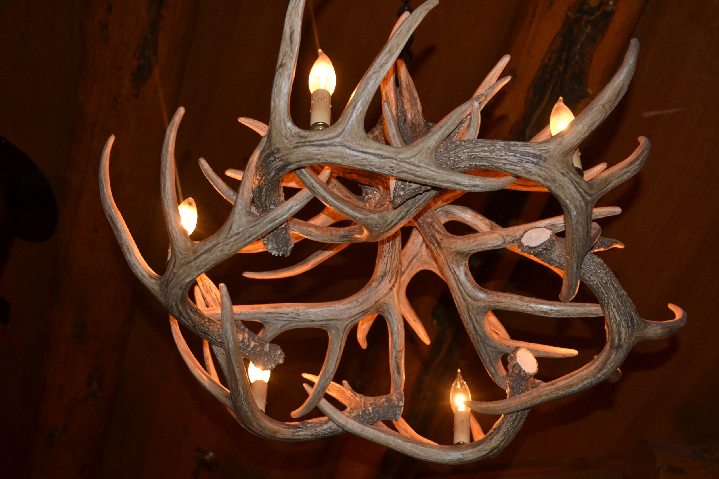 Pine Creek Cookhouse antler chandelier