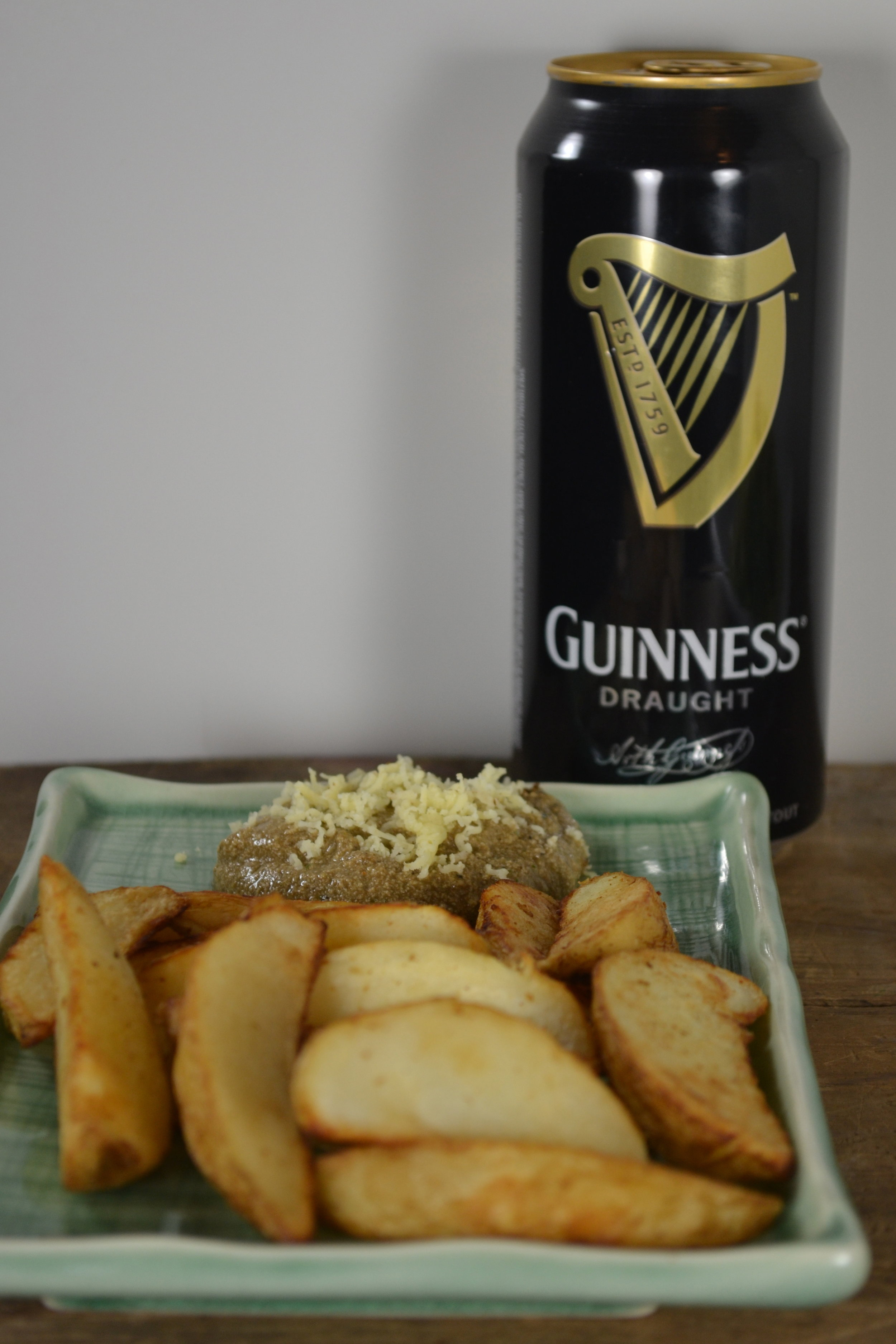 Oven Fries and Guinness Cheese Dip