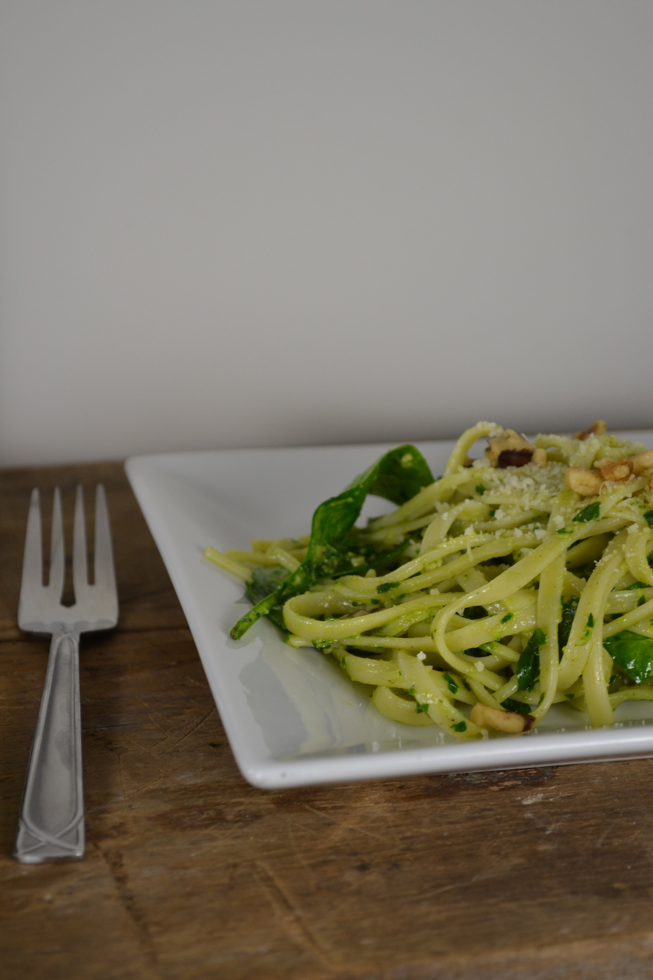 Fettuccine with parsley pesto 2