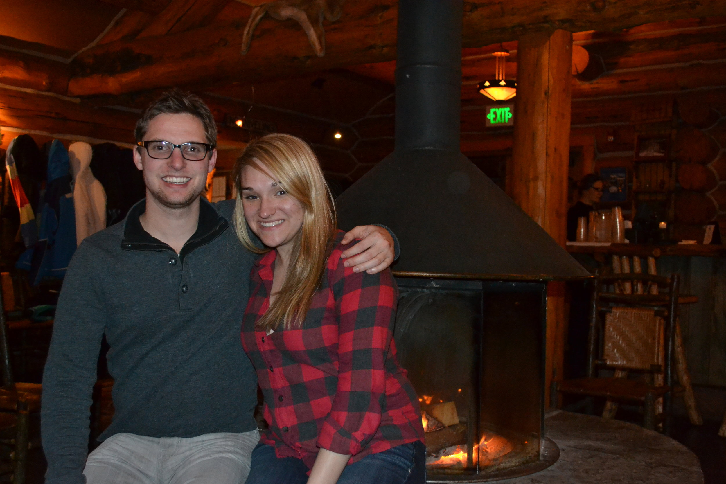 Sarah and Rob at Pine Creek Cookhouse