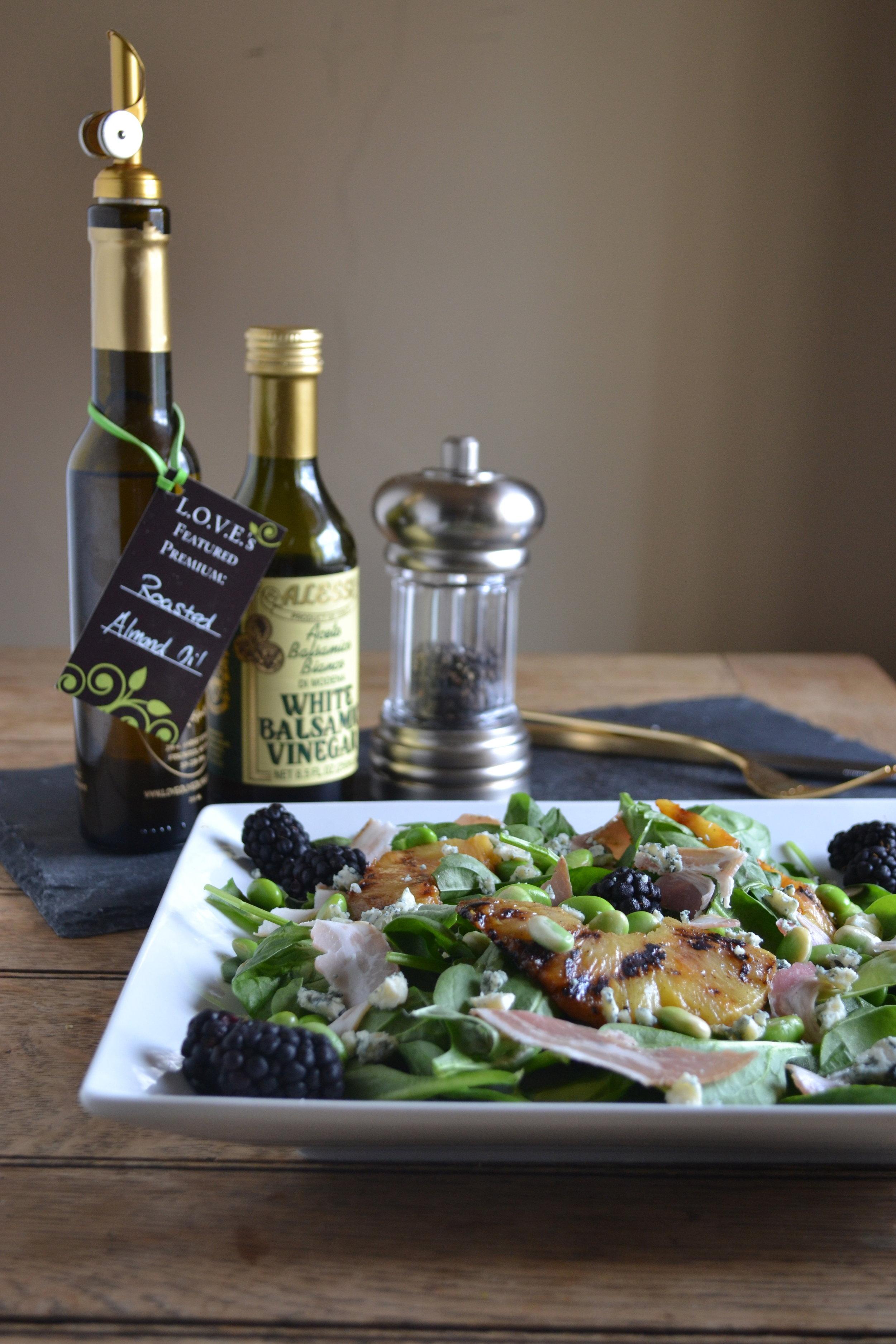 full smorgasbord salad shot