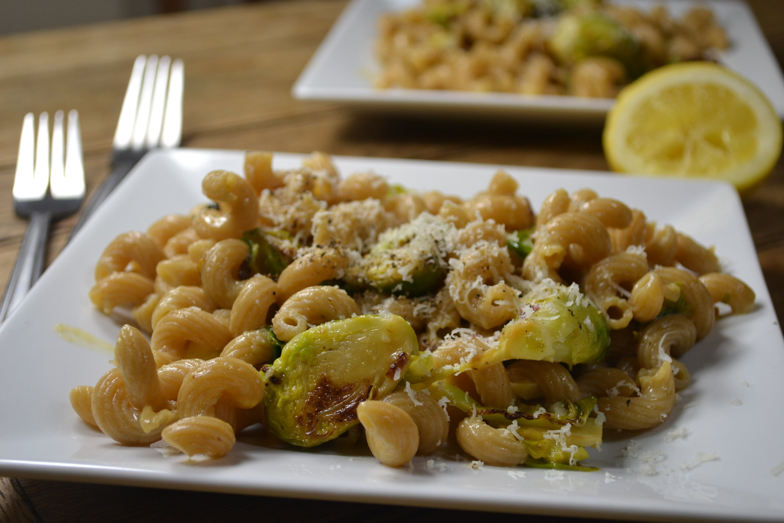 Lemon and Brussels Sprout Carbonara
