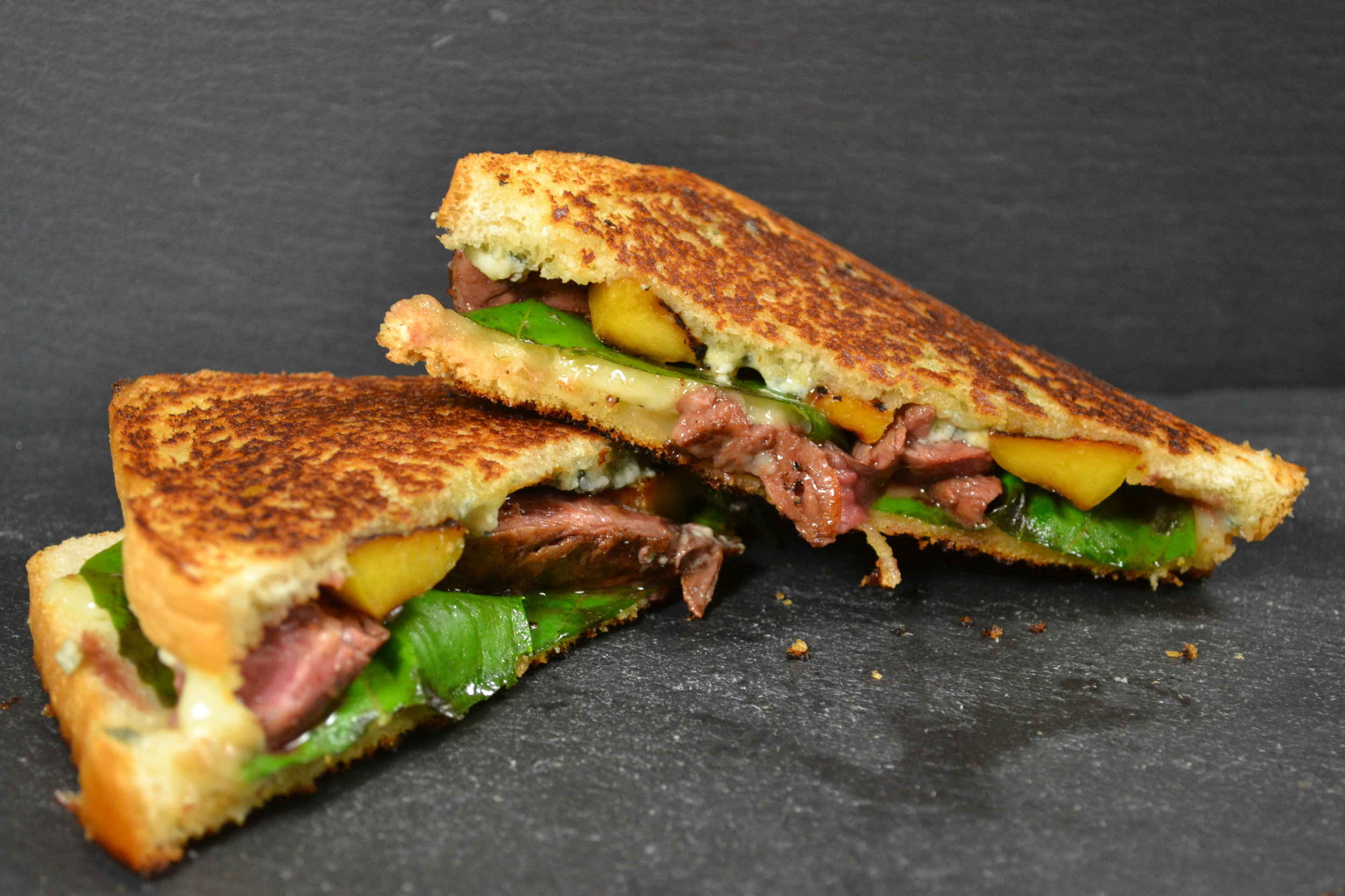 Grilled Peach and Steak Grilled Cheese