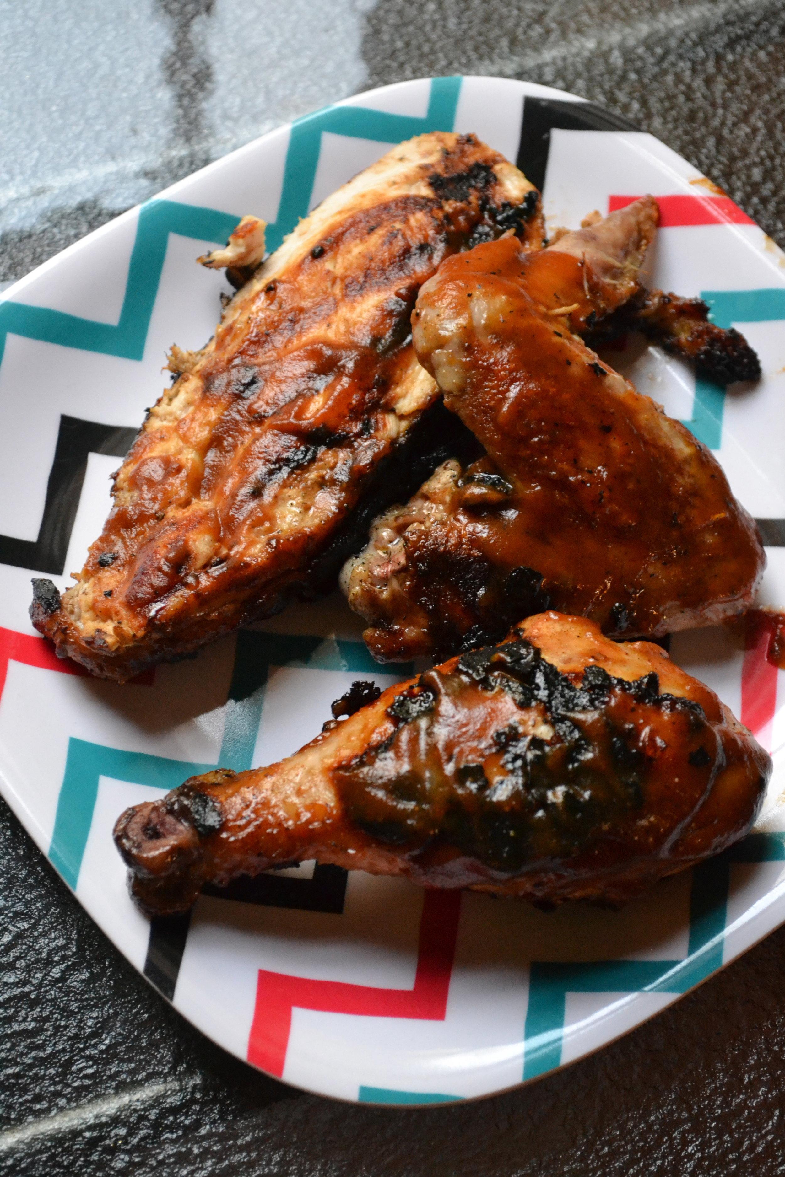 apple butter bbq grilled chicken