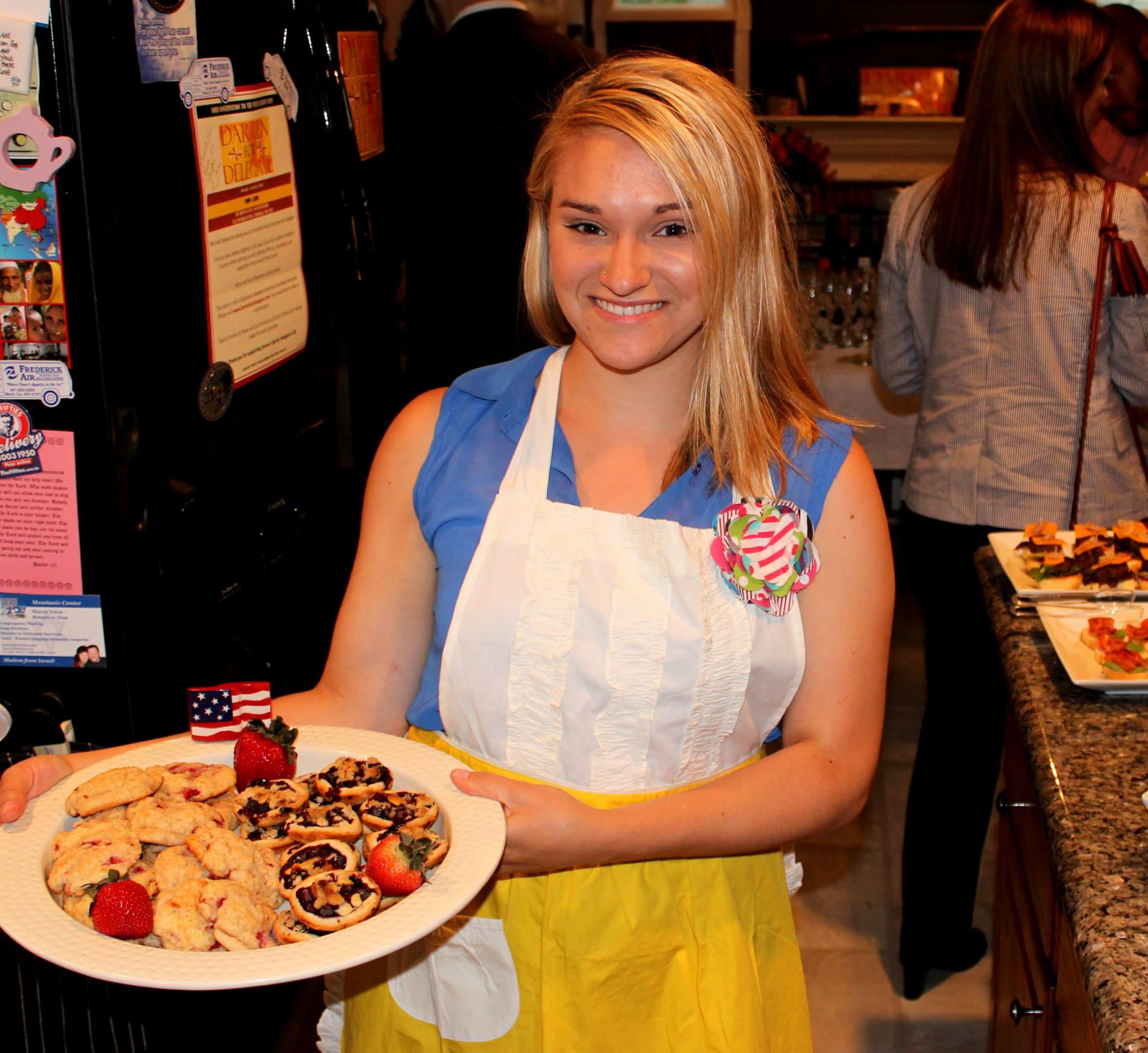 Sarah in a cute apron